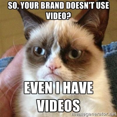 Grumpy Cat on Video Marketing